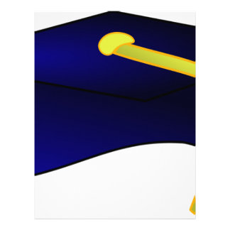 Graduation Cap Illustration Letterhead