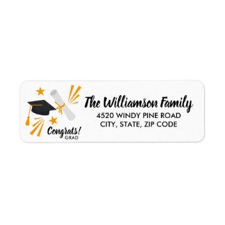 Graduation Cap Mortar Board Diploma Custom Address