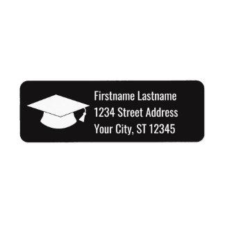 Graduation Cap Return Address Return Address Label