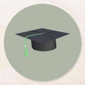 Graduation Cap Round Paper Coaster