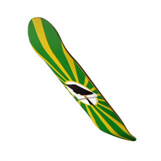 Graduation Cap - School Colors Gold and Green Skate Deck
