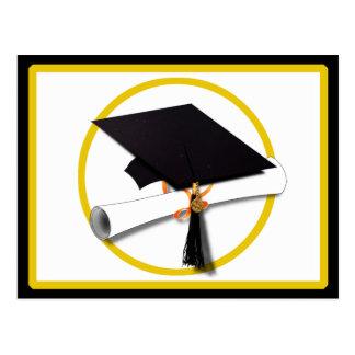 Graduation Cap with Diploma and Gold Circle Postcards