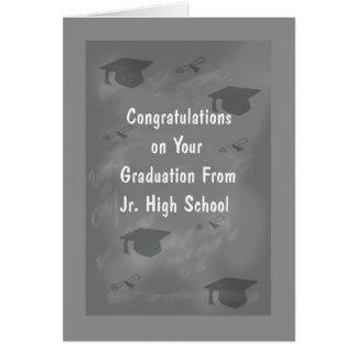 Graduation Card for Jr. High School Slate Design