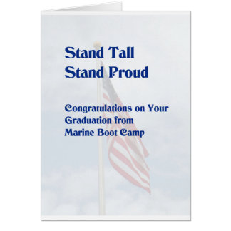 Graduation Card for Marine Boot Camp