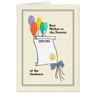 Graduation Card for Parents of the Graduate