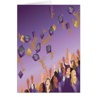 Graduation Card-Purple Card