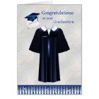 Graduation Card with Mortar, Gown and diploma