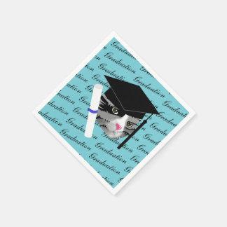Graduation Cat Disposable Napkin