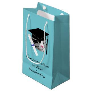 Graduation Cat Small Gift Bag