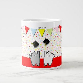 Graduation Cats Large Coffee Mug