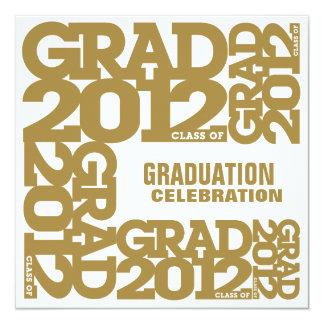 Graduation Celebration Invitation 2012 Gold 2