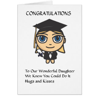 Graduation Character Congratulations Card