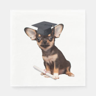 Graduation Chihuahua Disposable Napkin