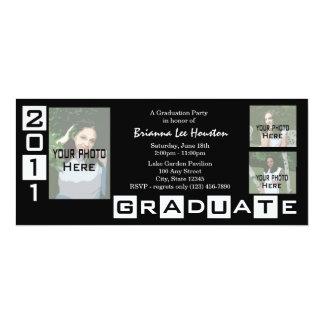 Graduation Class of 2011/ Black Tri Photo Card