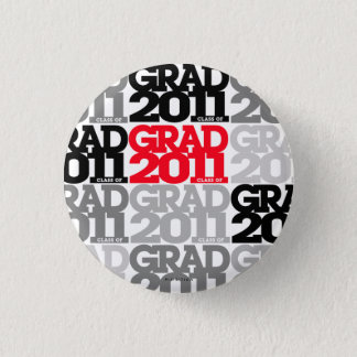Graduation Class Of 2011 Button Black Red 5