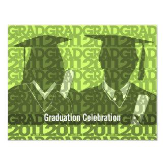 Graduation Class of 2011 Invitation Gown Green