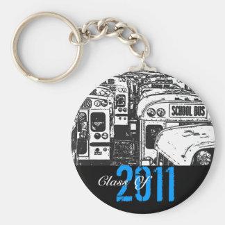 Graduation Class Of 2011 Keychain Grey Bus