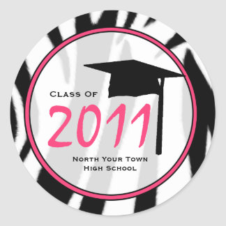 Graduation Class Of 2011 Zebra Print Sticker