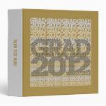 Graduation Class of 2012 Binder Tile Grey Gold