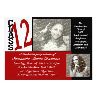 Graduation Class of 2012 Red Invitations