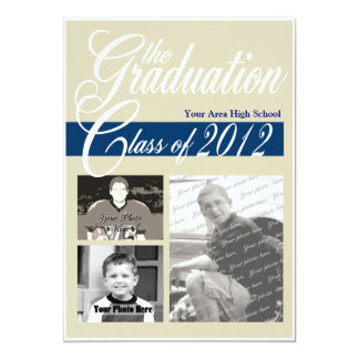 Graduation Class of 2012 Tri Photo Card