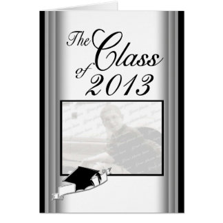 Graduation Class of 2013 Steel and Black Card