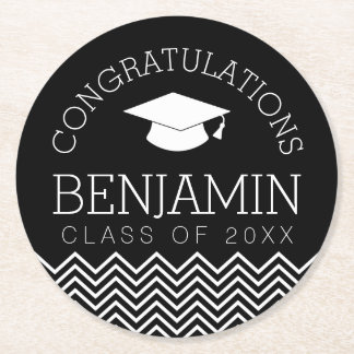 Graduation Class of 2017 - CAN CHANGE BACK COLOR Round Paper Coaster
