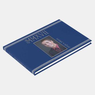Graduation Class of 2017 Sillver Roman Numerals Guest Book