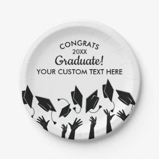 Graduation Class of 2018 Congrats Grad Cap Custom Paper Plate