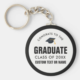 Graduation Class of 2018 Your School Custom Color Keychain