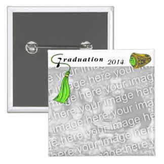 Graduation Class Ring GREEN Button