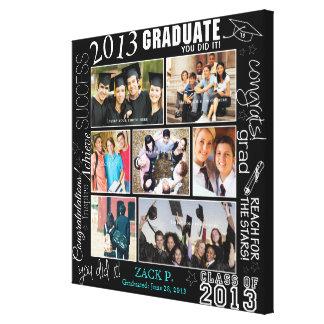 Graduation Collage - Fully Customizable - Canvas Print