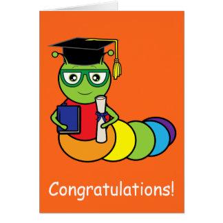 Graduation Congratulations Bookworm Card