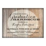 "Graduation Country Wood BBQ Grad Party Invitation 5"" X 7"" Invitation Card"