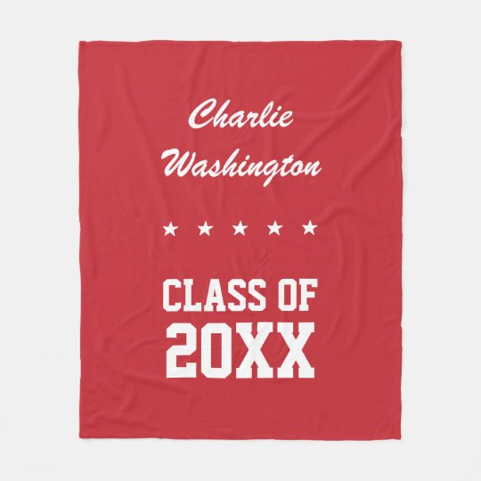 Graduation custom name, year & colour fleece