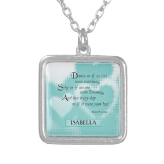 Graduation Dance, Square Gift Silver Plated Necklace