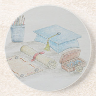 graduation day beverage coaster