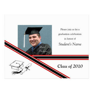 Graduation Diagonal Stripe Postcard