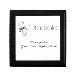 Graduation Diploma Gray Keepsake Box