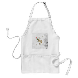 Graduation Diploma, Key, Dots, Vine, Flowers, Rose Standard Apron