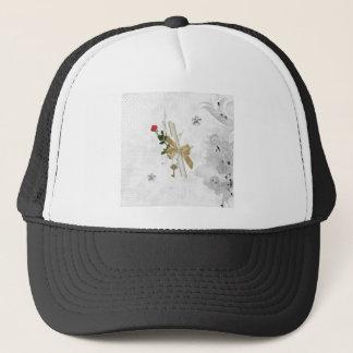 Graduation Diploma, Key, Dots, Vine, Flowers, Rose Trucker Hat