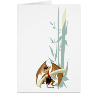 Graduation Dragon with Bamboo Greeting Card