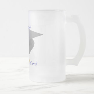 Graduation Frosted Glass Beer Mug