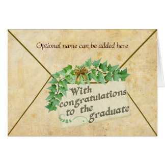 Graduation Gift Money Enclosure Card