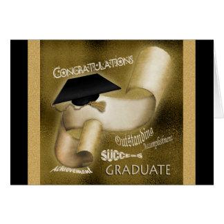 Graduation gifts men women elegant greeting card