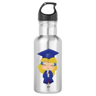 Graduation girl in blue 532 ml water bottle