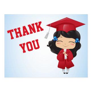 Graduation Girl in RED Postcard