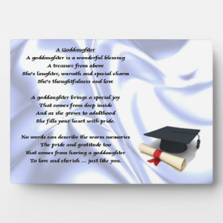 Graduation goddaughter poem plaque