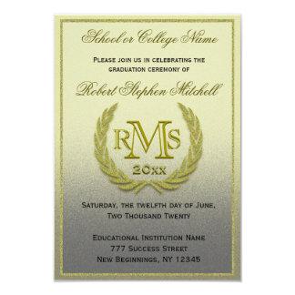 Graduation Gold Laurel Leaf Card