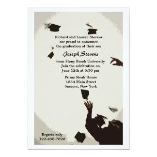 Graduation Hat Toss Invitation